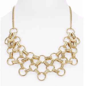 "AQUA Nia Chain Statement Necklace 18"" Bloomingdale"